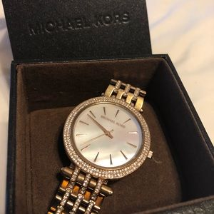 Michael Kors Rose Gold Opal Face Watch